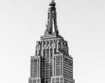 New York Photography - Empire State Building, Big Apple, Manhattan, I Love NY, NYC, Midtown, New York 8x12 black and white photo