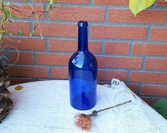 Vintage John Harvey Cobalt Blue Glass Bottle Cobalt Blue Wine Bottle