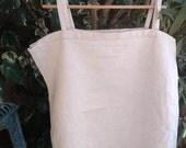 Victorian Natural Linen Dress Monogrammed Ladder Work French Nightgown or Slip Medium Large #sophieladydeparis