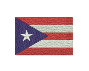 "Machine Embroidery Design Instant Download - ""Puerto Rico"" Flag DC United States of America USA"