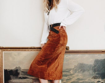 Buttery Suede Skirt