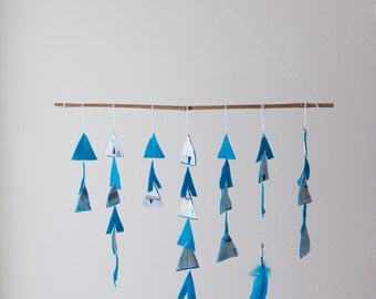 Tribal Nursery Decor - Fabric & Felt Teepees - Wall Hanging