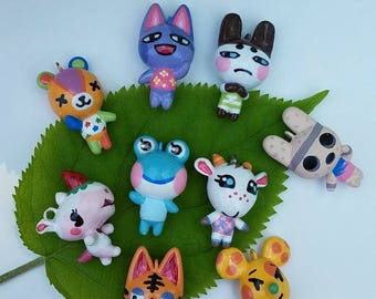You Choose Custom Animal Crossing どうぶつの森 Villager Polymer Clay Charms