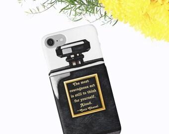 Coco Chanel Phone Case, Chanel iPhone Case, Coco Chanel Quote, Coco Noir Watercolor Phone Case, iPhone X 6 7 8 Plus, Samsung Galaxy Case