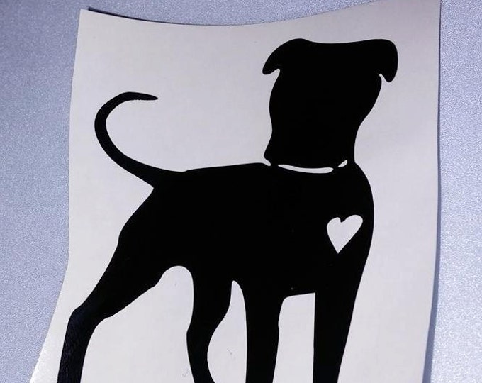 Pitbull Love Pit Bully Small Vinyl Decal