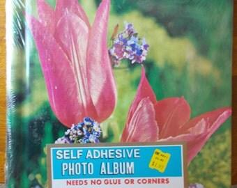 Vintage Photo Album Kmart Flower Cover 1970's Sealed