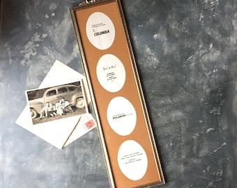 Gold Tone Metal Photo Frame | Ornate Vintage Multi Photo Frame | Hollywood Regency | Vintage Wedding Decor | Mid Century Decor