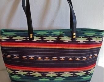 Sale Southwestern design  tote bag, Boho bag, tribal bag, tote bag, shoulder bag, beach bag,