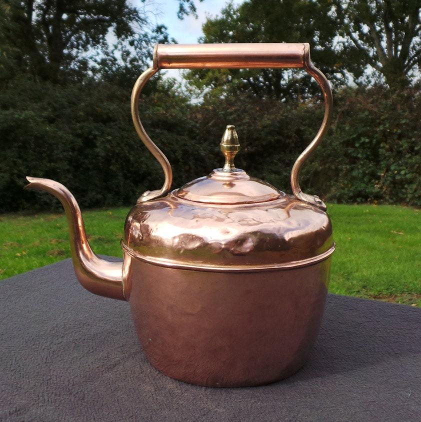 Copper Kettle French Made Bouloire Vintage Copper Arab Quarter Copper Pot Retailer Brass Copper