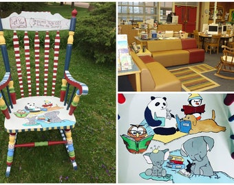 Teacher Rocking Chair, Library Rocker, Personalized and Custom Adult Rocking Chair, MADE TO ORDER
