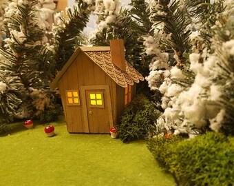 Fairy Tale Woodland Handmade LED Tealight Cabin