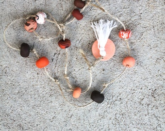 Clay hanging decor orange and brown