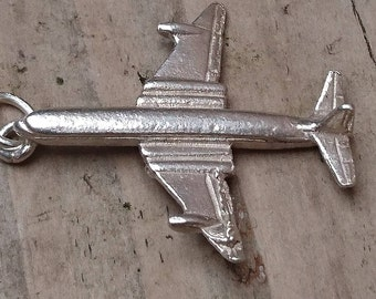 Vintage sterling silver aeroplane charm