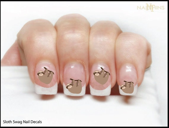 Sloth nail decal sloth nail designs nail art in adult and like this item prinsesfo Image collections