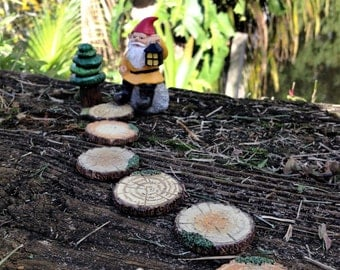 Fairy Path Wooden Disk Path Resin Walkway
