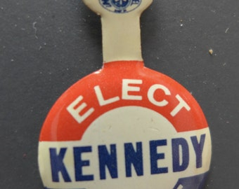 "Kennedy 1960 Presidential Campaign Tab - ""Elect Kennedy President"""