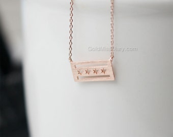 dainty Chicago flag necklace, Chicago Flag necklace, dainty chicago flag necklace, chicago souvenir, chicago love, remember chicago