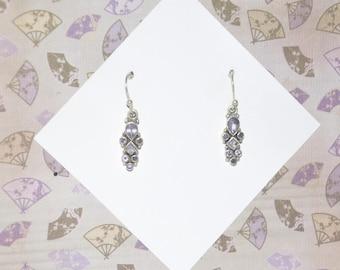 Earrings Sterling Silver Amethyst #E12b