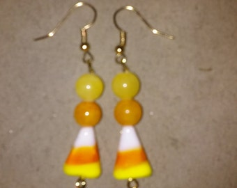 Candy  Corn Earrings Style #4