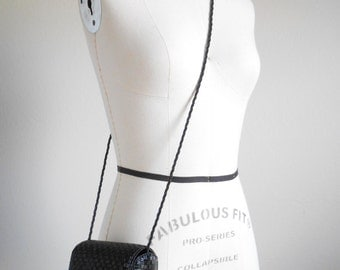 90s vintage bag - black beaded handbag - 90s Rachel bag