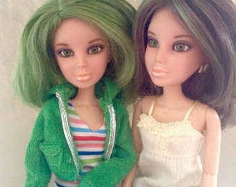 Liv Doll Wigs, Replacement hair, fashion doll accessories, green wig, brunette wig, doll wig, Liv Doll, Greece