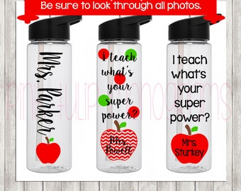 Teacher Appreciation, Teacher Gifts, Teacher Water Bottle, Monogram Tumbler, Personalized Water Bottle, Teacher Tumbler, Sorority Gifts