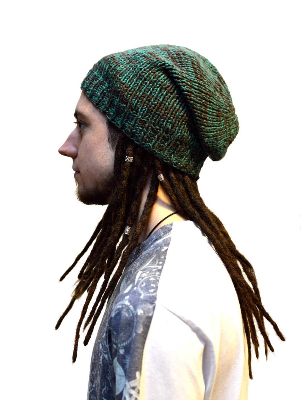 Dreadlock Hat Beanie Woollen Hat Handmade Knit Dreadlock Hats For Men