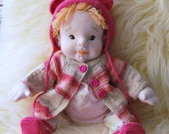 Waldorf Doll, Cloth Doll, Soft Doll, Soft Sculptured Doll, Baby Doll, Newborn Doll, Art Doll, OOAK, Colectible Doll, Girl Gift