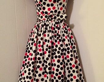 Vintage Style Polka Dot Dress by Tatyana