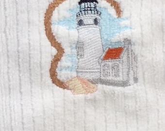 Heceta Head Light House - Hand Towel - White