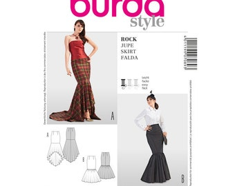 Burda Sewing Pattern 7089 Mermaid Skirt Size 6-22