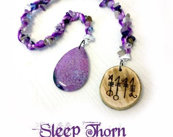 Sleep Thorn Charm - svefnthorn charm pagan talisman icelandic magical stave rune runes holly viking heathen