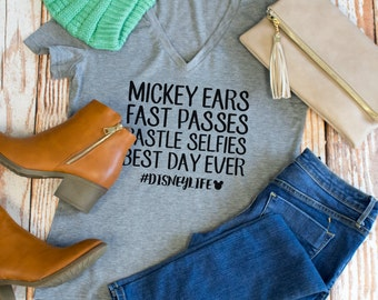 Best day ever #disneylife Tshirt - Womens Clothing. Womens Tshirt. Graphic Tee - Tickled Teal