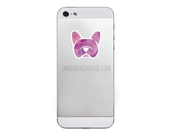 French Bulldog decals - SET OF 2 mini vinyl dog stickers - Frenchie silhouette - You CHOOSE color option