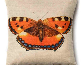 Tortoiseshell Butterfly Cushion Pillow