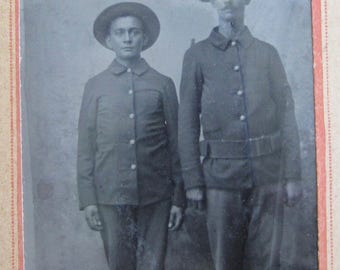 Brothers In Arms - American Frontier Soldiers Tintype Photograph - Free Shipping