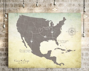 "Wedding Guest Book Alternative Map, Mexico Wedding Map, Puerto Vallarta wedding, Cancun wedding, Caribbean islands map, up to 30"" x 40"""