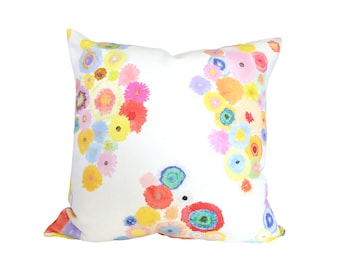 Flora decorative pillow cover - 1 SIDED OR 2 SIDED - Made to Order - Choose Your Size