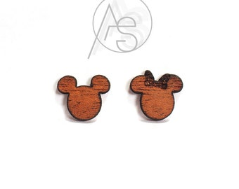 Mickey and Minnie Mouse Ears Stud Earrings | Disney Earrings, disney gifts, mickey jewelry, minnie jewelry, minnie earrings, mickey earrings