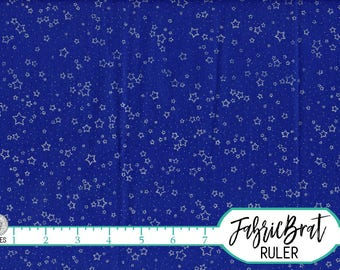 Blue night sky etsy for Night sky print fabric