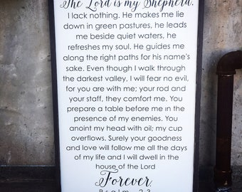 Psalm 23 sign