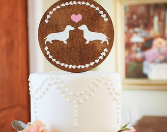 Dachshund Wedding Cake Topper Many Custom Paint Colors Available