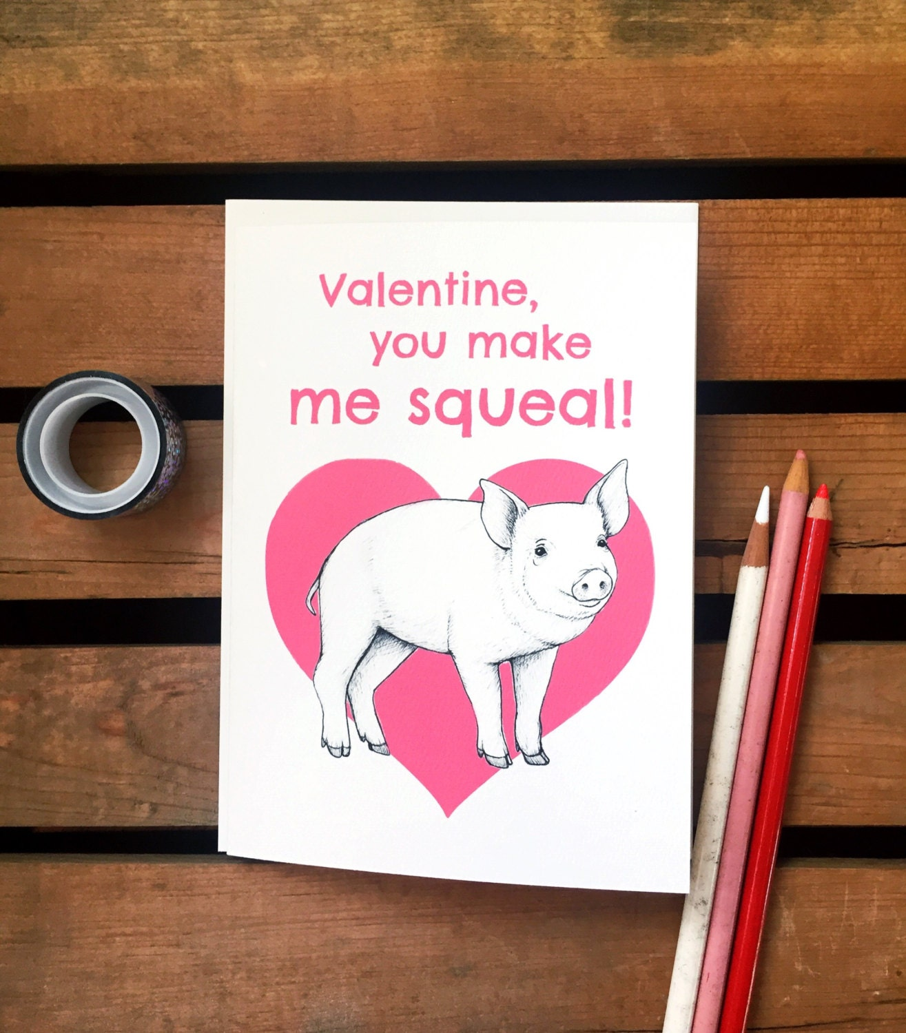 Squeal – Pig Valentine Cards