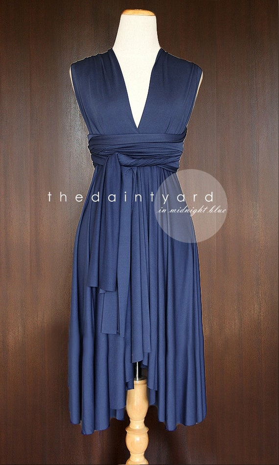 Midnight blue bridesmaid dress convertible dress infinity for Midnight blue wedding dress