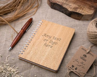 Wood Notebook any engraving, Wooden Notebook, Wood Notepad, Wooden Sketchbook, Birthday Day Gift, Personalized note book, Sketch Pad