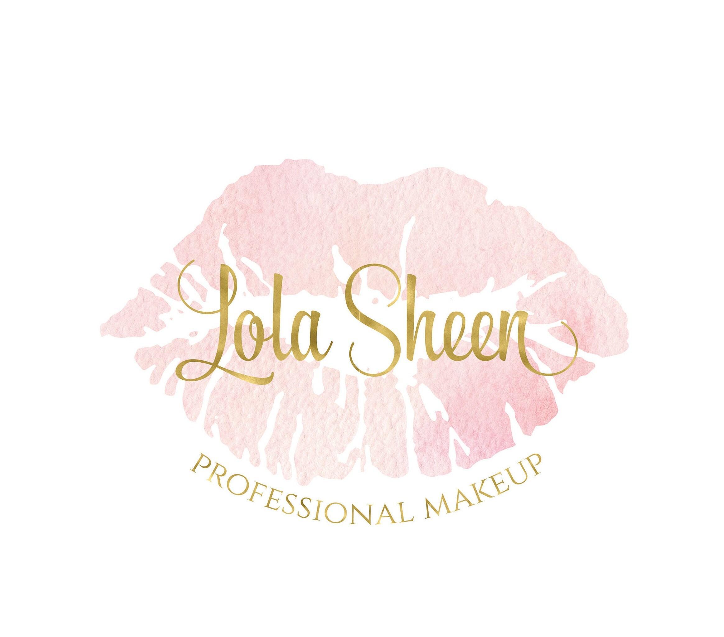 pink lip logo pink lipstick logo beauty blog logo makeup