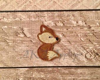 Fancy Fox Feltie Embroidery Design