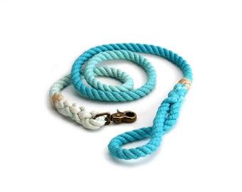 6 FT Aqua Ombre Rope Dog Leash