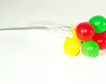 Colorful Balloons Party Cake Celebrations Plastic Mini Decorations az8015