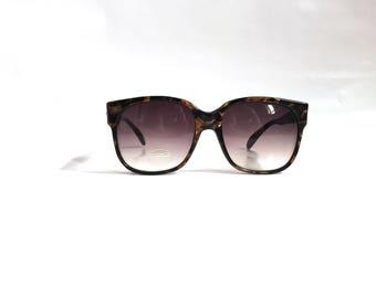 Vintage Deadstock 1989 Sanford Hutton Colors in Optics 84 Oversized Pearl Toned Designer Sunglasses / Bronze Pearl and Black